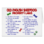 OLD ENGLISH SHEEPDOG Property Laws 2 Cards