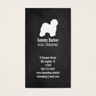 Old English Sheepdog Silhouette Business Card
