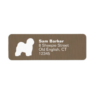 Old English Sheepdog Silhouette Label