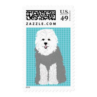 Old English Sheepdog Stamp