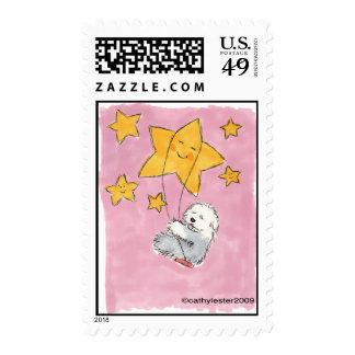Old English Sheepdog Star Postage Stamp