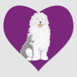 Old English sheepdog stickers various shapes
