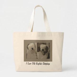 Old English Sheepdog Tote Canvas Bag