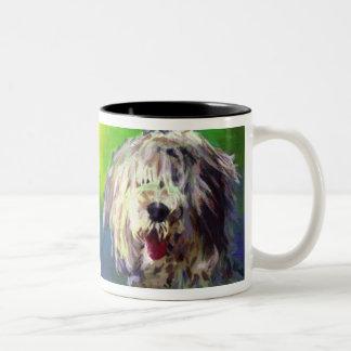 Old English Sheepdog Two-Tone Coffee Mug