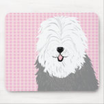 Old English Sheepdog (with covered eyes) Mouse Pad