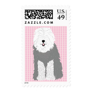 Old English Sheepdog (with covered eyes) Stamps