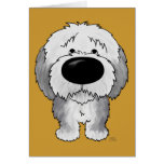 Old English Sheepdogs - Big Nose and Butt Greeting Card
