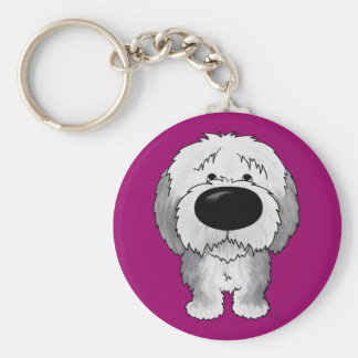Old English Sheepdogs - Big Nose and Butt Keychain