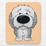 Old English Sheepdogs - Big Nose and Butt Mouse Pad