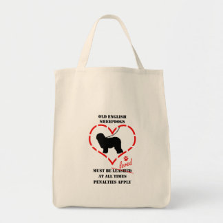 Old English Sheepdogs Must Be Loved Tote Bag