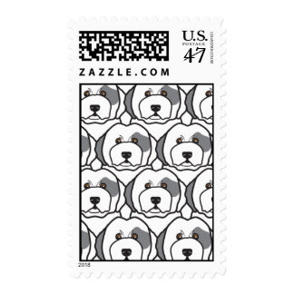 Old English Sheepdogs Postage Stamp