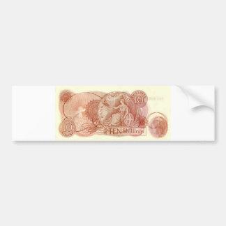 Old English Ten Shilling Note Bumper Sticker