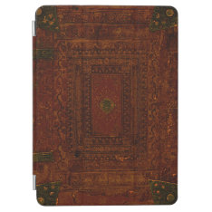 Old Engraved Leather And Brass Ipad Air Cover at Zazzle