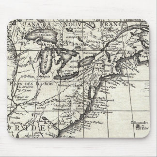 Old engraving: classic map of USA & Canada Mouse Pad