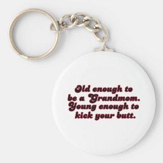 Old Enough Grandmom Keychains