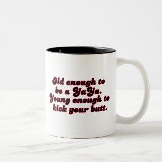Old Enough YaYa Two-Tone Coffee Mug