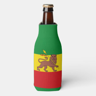 Old Ethiopian flag Bottle Cooler