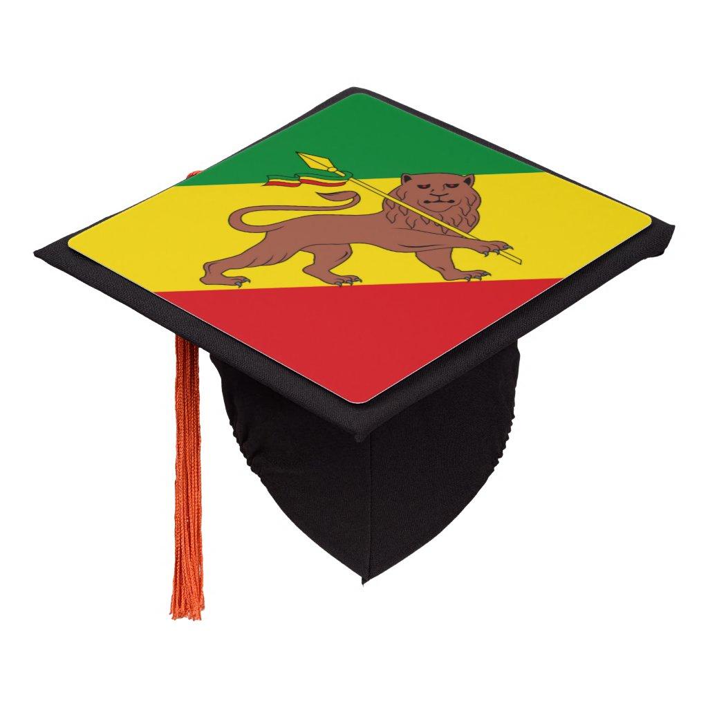 Old Ethiopian flag Graduation Cap Topper