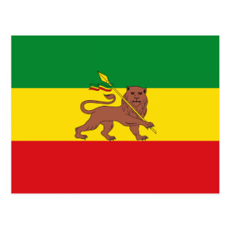 Old Ethiopian flag Postcard