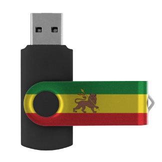 Old Ethiopian flag Swivel USB 2.0 Flash Drive