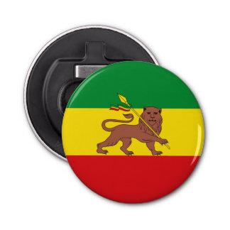 Old Ethiopian flag Button Bottle Opener