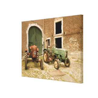 Old European Tractors Canvas Print
