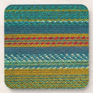 Old Fabric Beverage Coaster