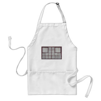 Old factory wood window on a white background adult apron
