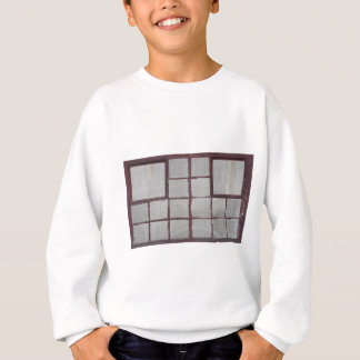 Old factory wood window on a white background sweatshirt