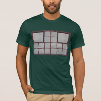 Old factory wood window on a white background T-Shirt