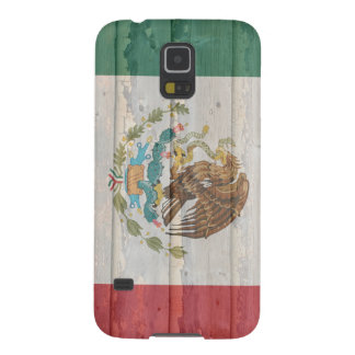 Old faded wood Mexican flag Case For Galaxy S5