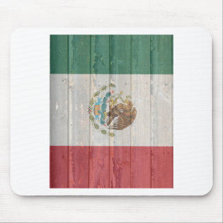 Old faded wood Mexican flag Mouse Pad