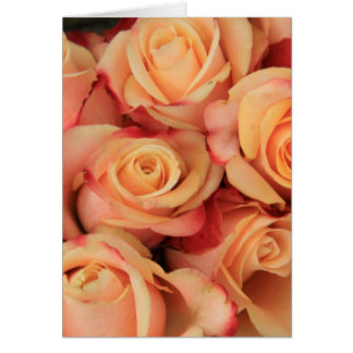 Old fahioned looking pink roses card