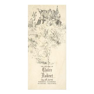 Old Fairytale Castle Wedding Programs