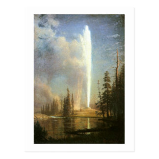 Old Faithful, Albert Bierstadt Post Cards