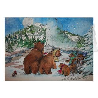 Old Faithful Christmas Card