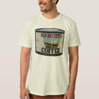 OLD FAITHFUL COFFEE VINTAGE FOOD LABEL T SHIRT