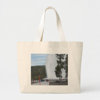 Old Faithful Geyser in Yellowstone Park Large Tote Bag