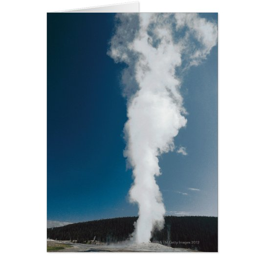 Old Faithful geyser , Yellowstone National Park Card
