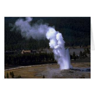 Old Faithful Geyser, Yellowstone National Park Greeting Card