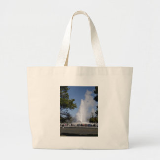 Old Faithful Geyser - Yellowstone National Park Large Tote Bag