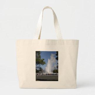 Old Faithful Geyser - Yellowstone National Park Large Tote Bag