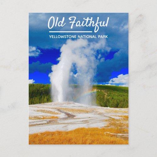 Old Faithful Geyser | Yellowstone National Park Postcard