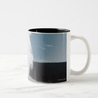 Old Faithful geyser , Yellowstone National Park Two-Tone Coffee Mug