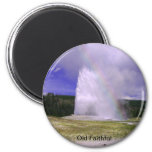 Old Faithful in Yellowstone National Park 2 Inch Round Magnet