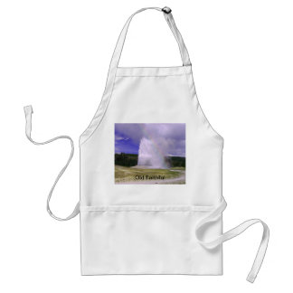 Old Faithful in Yellowstone National Park Adult Apron