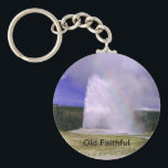 "Old Faithful in Yellowstone National Park Keychain<br><div class=""desc"">Old Faithful is a cone geyser located in Wyoming, in Yellowstone National Park in the United States. Everyone loves to travel. Personally, I would love to travel to all 50 states and explore outside countries. Since I am from America, I will try to get the best of each state. Then...</div>"