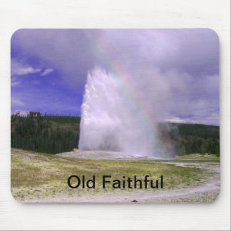 Old Faithful in Yellowstone National Park Mouse Pad