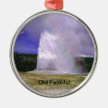 Old Faithful in Yellowstone National Park Ornament
