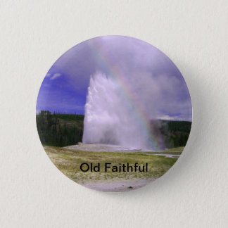 Old Faithful in Yellowstone National Park Pinback Button